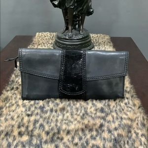 FOSSIL VINTAGE LEATHER CLUTCH